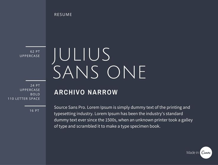 71 best Font Pairing images on Pinterest Typography, Fonts and - font for resumes