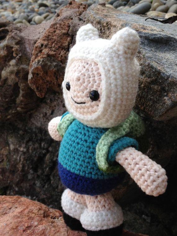Adventure Time Finn PDF Amigurumi Crochet Pattern by GeekChicurumi