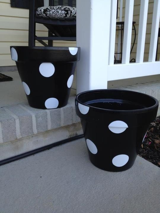 Vinyl Dots for Flower Pots by Snookemlilies on Etsy