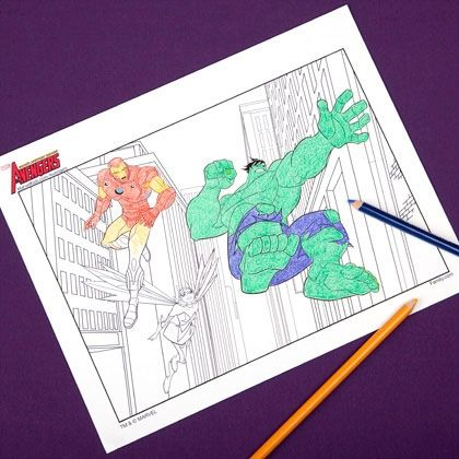 Avengers Coloring Pages Plus Superhero Pirates