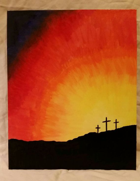 Christ Cross in the morning by AcaciasPaintbrush on Etsy