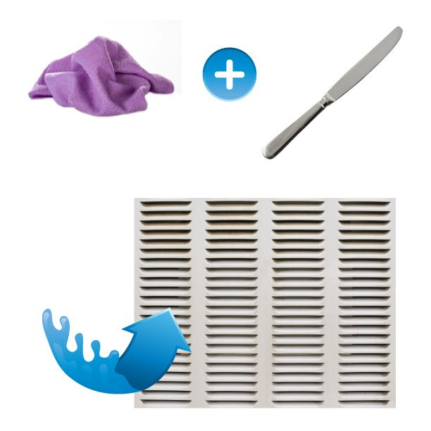 It's almost air conditioner season and dirty vents equal dirty indoor air. Clean your vents with a Vileda cloth covering a butter knife.