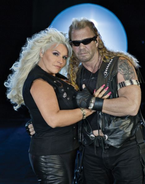 Shocked: Dog The Bounty Hunter Duane Chapman, right, and his wife Beth