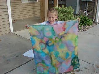 Ice Cube Tye Dye Painting...freeze ice cubes with food coloring to make ice paints