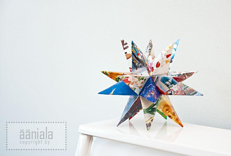 DIY Christmas card star