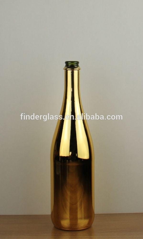 750ml electroplated gold sparkling wine bottle electroplating golden champagne wine bottle Empty Champange bottles wholesale