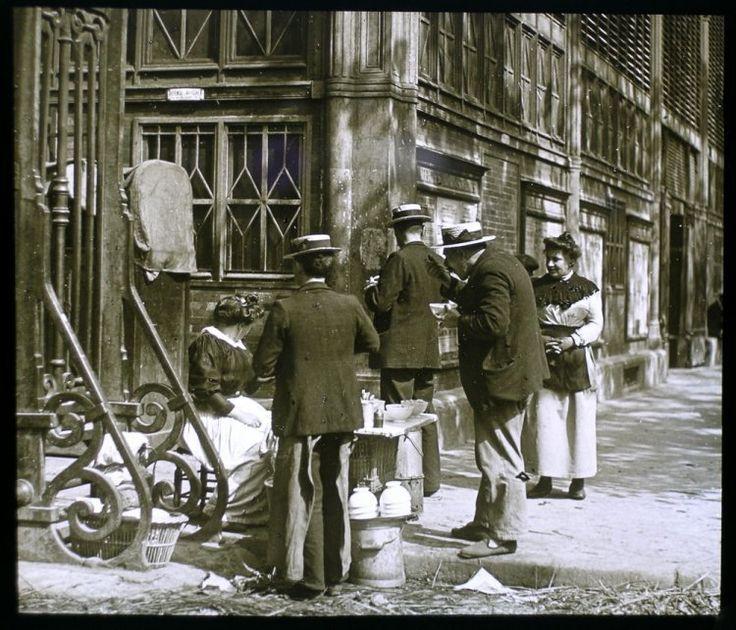 Vendeuse de soupe Paris 1900-Photo de Louis vert ste Française de photographie
