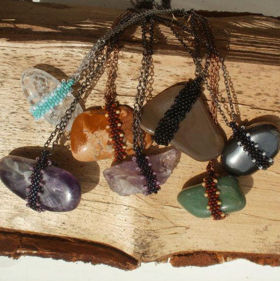 Gemstone Jewelry hematite boho bohemian gypsy by SparkleCingari