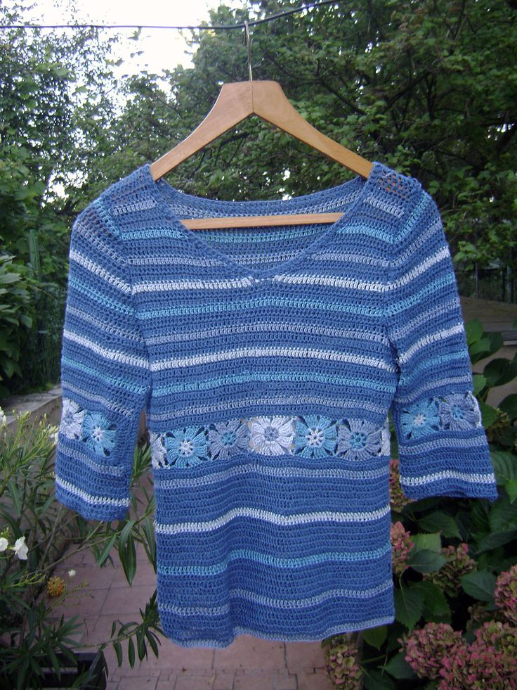 Hippie crocheted blouse