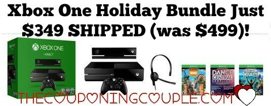 Xbox One Holiday Bundle with Console, Kinect, 3 Game Downloads and Headset Just $349 SHIPPED (was $499)! This is the best Xbox One Bundle Deal around!+  Click the link below to get all of the details ► http://www.thecouponingcouple.com/xbox-one-holiday-bundle-with-console-kinect-3-game-downloads-and-headset-just-349-shipped-was-499/ #Coupons #Couponing #CouponCommunity  Visit us at http://www.thecouponingcouple.com for more great posts!