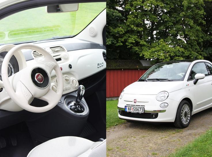 love this WHITE Fiat 500 @frydogdesign.blogspot.com