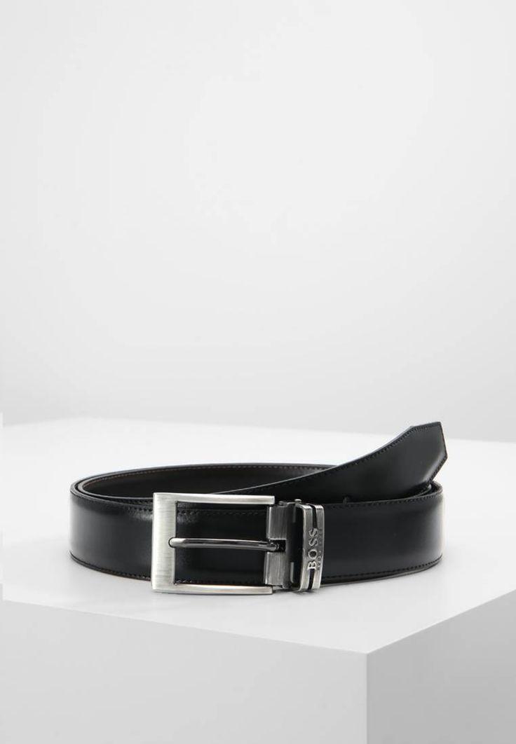 BOSS. GALLIZ - Cintura - black. Composizione:100% Pelle. Lunghezza:112 cm nella taglia One Size. Chiusura:Fibbia. Larghezza:3.6 cm nella taglia One Size. Fantasia:monocromo