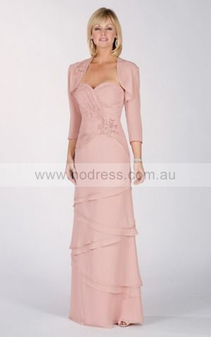 Zipper Floor-length Natural Sheath Chiffon Formal Dresses aiga307051