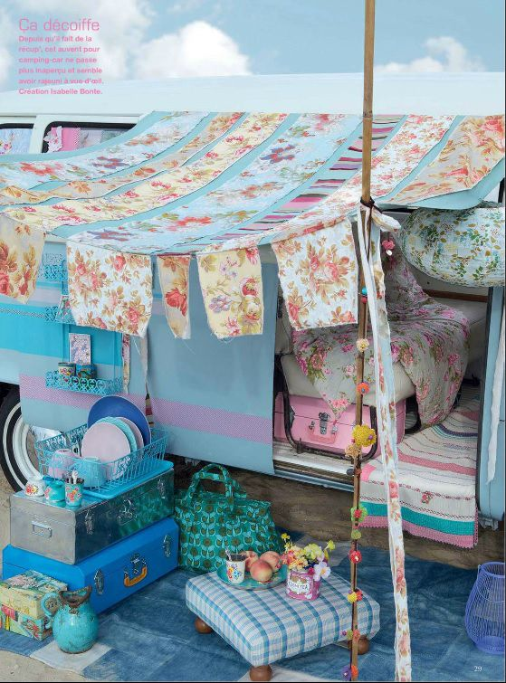 bohemian chic shabby vintage road trip caravan