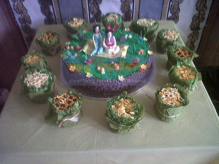 Aladdin and Princess Jasmin custom themed cake  http://www.wonder-parties.co.za/