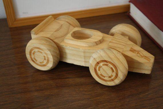 A Vintage Wooden Race Car Etsy Wooden Wooden Toys Wooden Car