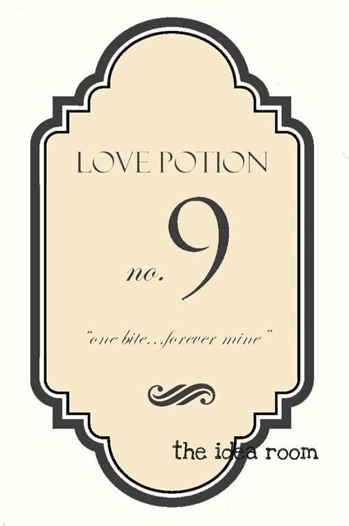 Love Potion No 9 Labels