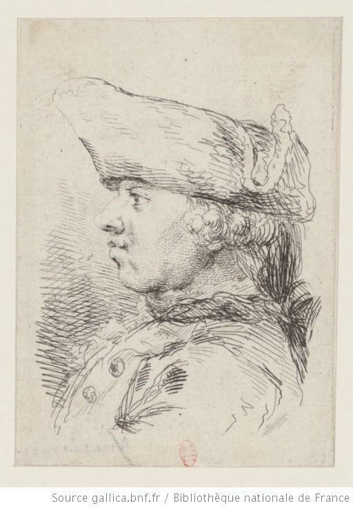 [Tête de bourgeois coiffé d'un chapeau à trois cornes] : [estampe] / [F. Boucher]