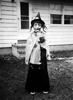 Creepy Vintage Halloween Costumes | photoset creepy vintage Halloween 1950's skeleton ghost costumes devil ...
