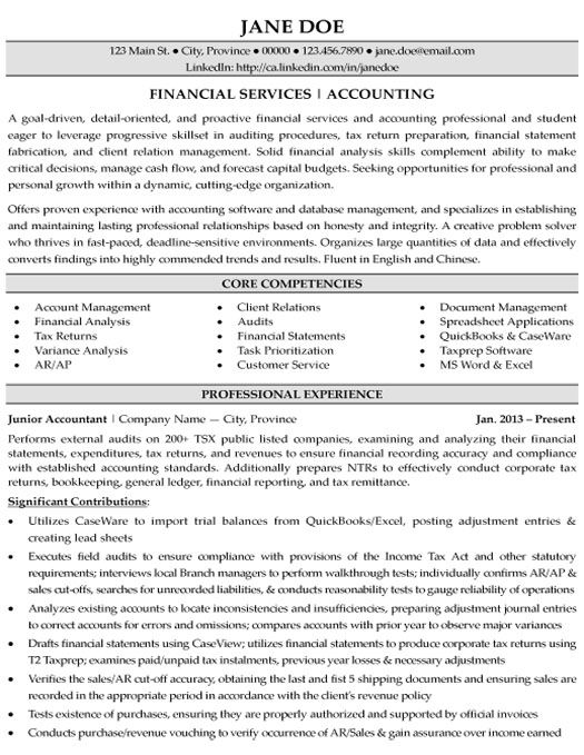31 best Best Accounting Resume Templates \ Samples images on - accounts receivable analyst sample resume