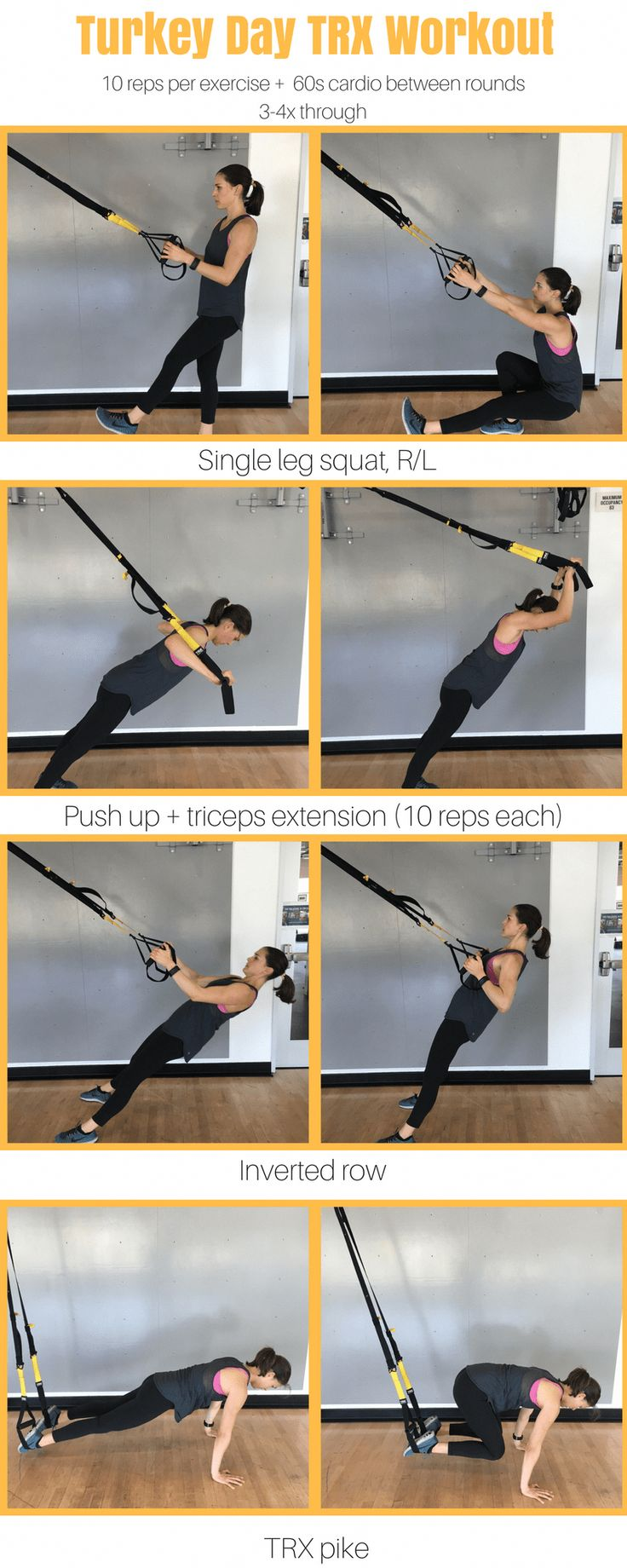 Work your full body with just a TRX. TRX workout for women – TRX workout for beg…