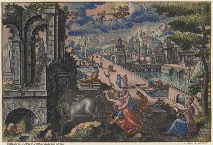 The abduction of Persephone by Peeter van der Borcht, 16th century. Bibliothèque Municipale De Lyon, Public Domain