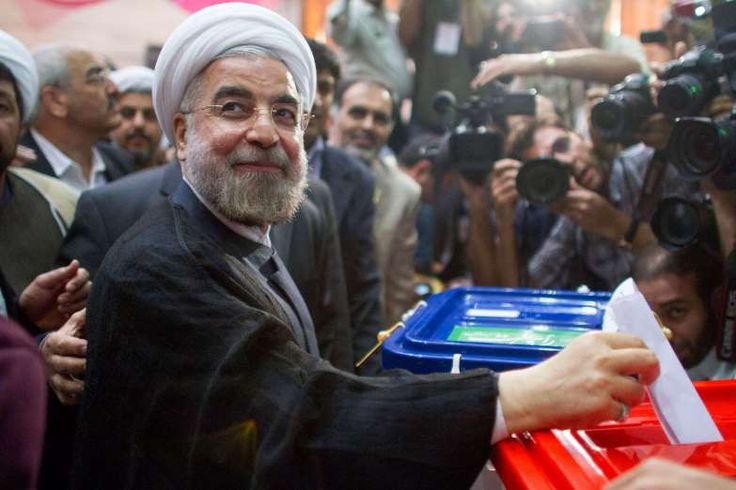 June 14,    2013 HASSAN ROUHANI WINS PRESIDENTIAL ELECTION  -    Hassan Rouhani is elected President of Iran. He secures a surprise win to succeed Mahmoud Ahmadinejad with just over 50% of the vote.