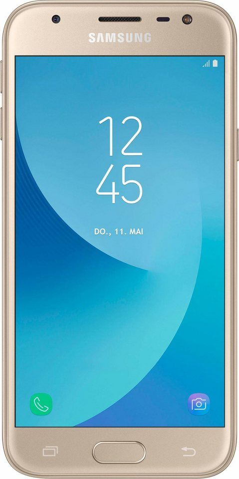 Samsung Galaxy J3 (2017) DUOS Smartphone, 12,7 cm (5 Zoll) Display, LTE (4G), Android 7.0
