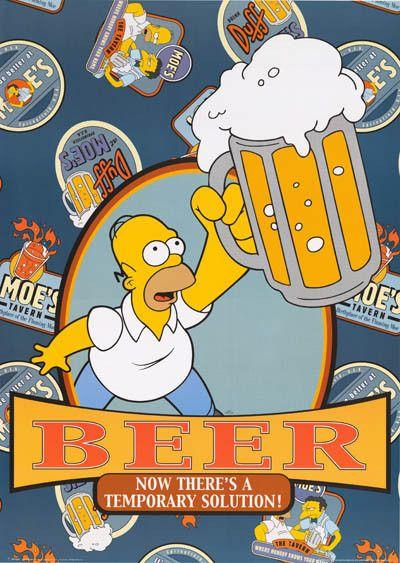 Homer Simpson Beer Quote 2001 Poster 25x35 – BananaRoad
