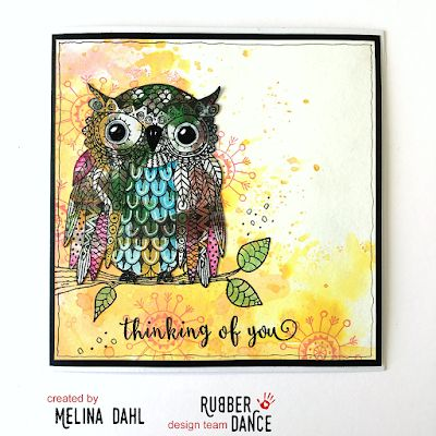 * Rubber Dance Blog *: Simplicity Sunday: Card with Distress oxides and Mama Owl stamp