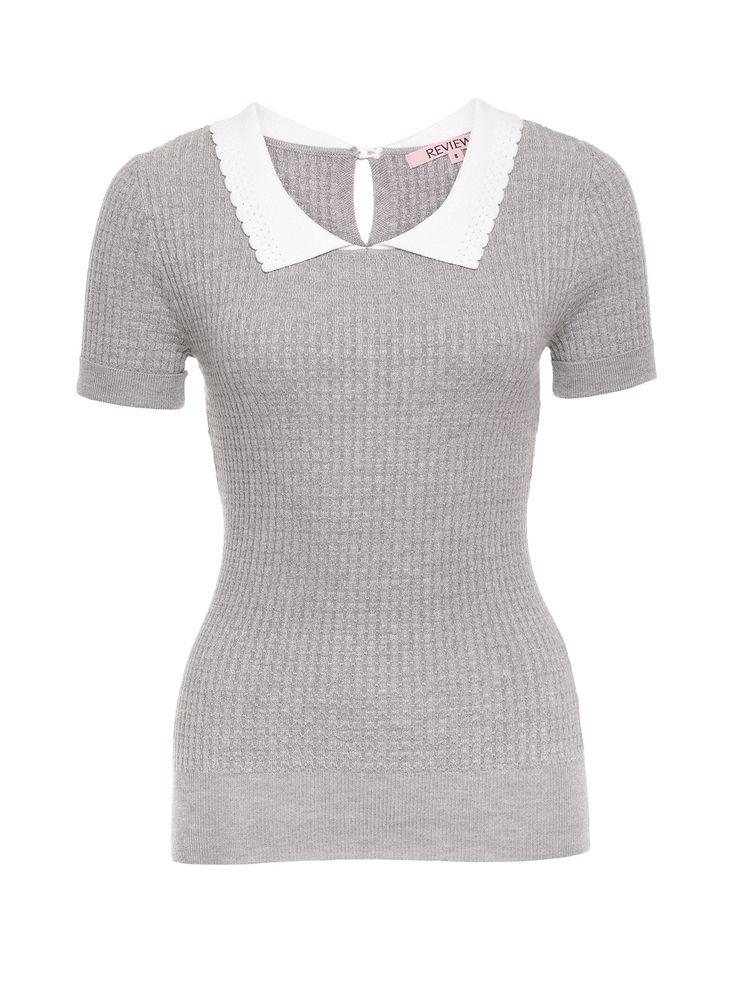 Lovers Lane Knit Top   Grey Marl   Knitwear