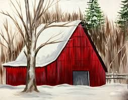 Image result for easy acrylic paintings of barns