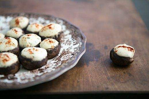 Boursin Stuffed Mushrooms recipe from Simply Recipes