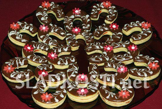 Linecké podkůvky s čokoládou