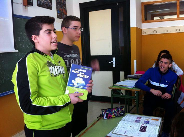 """Blog del IES Laguna de Tollón: Alumnos lectores: """"¿Cuánto pesa una nube?"""