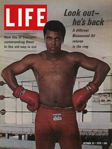 "Muhammad Ali, Boxing - Life Magazine, October 23, 1970 issue - Visit http://oldlifemagazines.com/the-1970s/1970/october-23-1970-life-magazine.html to purchase this issue of Life Magazine. Enter ""pinterest"" at checkout for a 12% discount. - Muhammad Ali, Boxing"