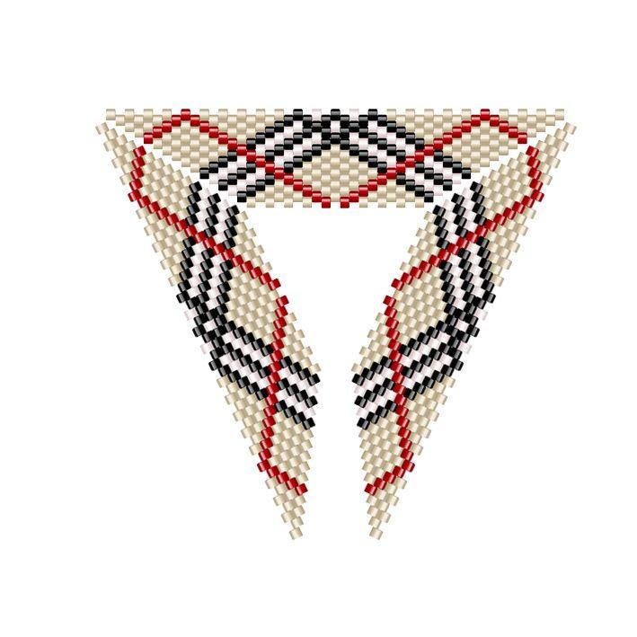 et un autre triangle burberry, creux celui là… Posts similairesSchéma triangle Burberry – patternCollier Burberry au crochet Tutoriel Triangle en peyoteCollier MagiquePattern jacquard – schéma manchette jacquardPattern manchette peyote SOS – Schéma Manchette Peyote « SOS »