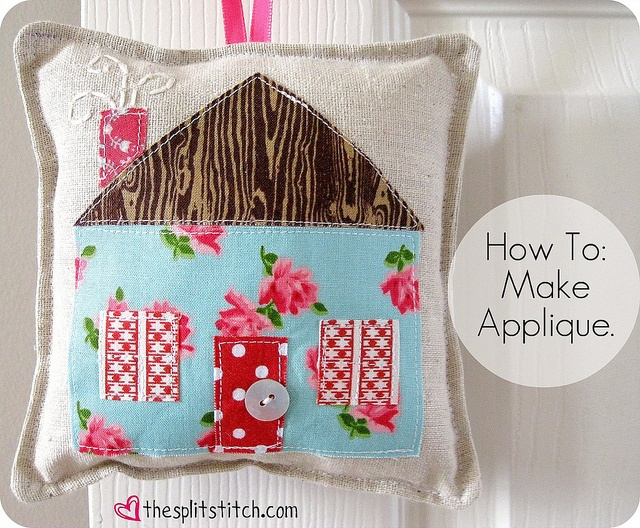 How To: Make Applique using templates.  by sara ~~ thesplitstitch, via Flickr