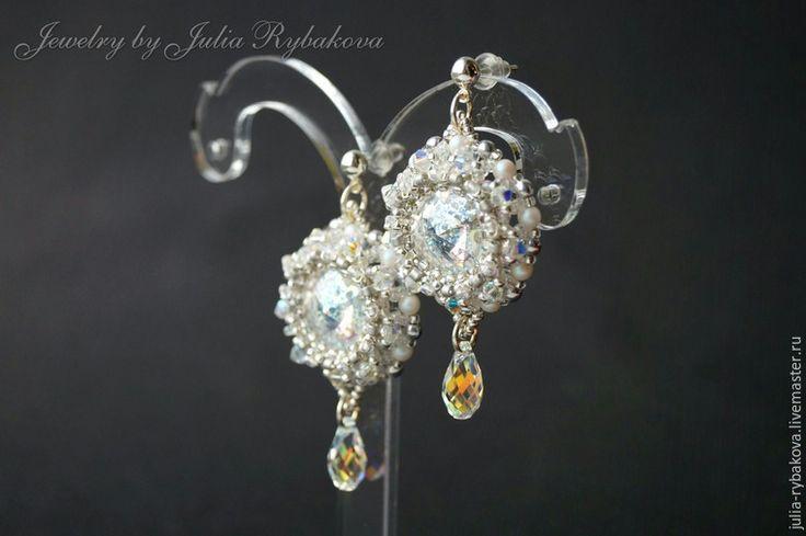 бисероплетение beaded tutorial, beaded pattern, earrings, beaded earrings, beadwork