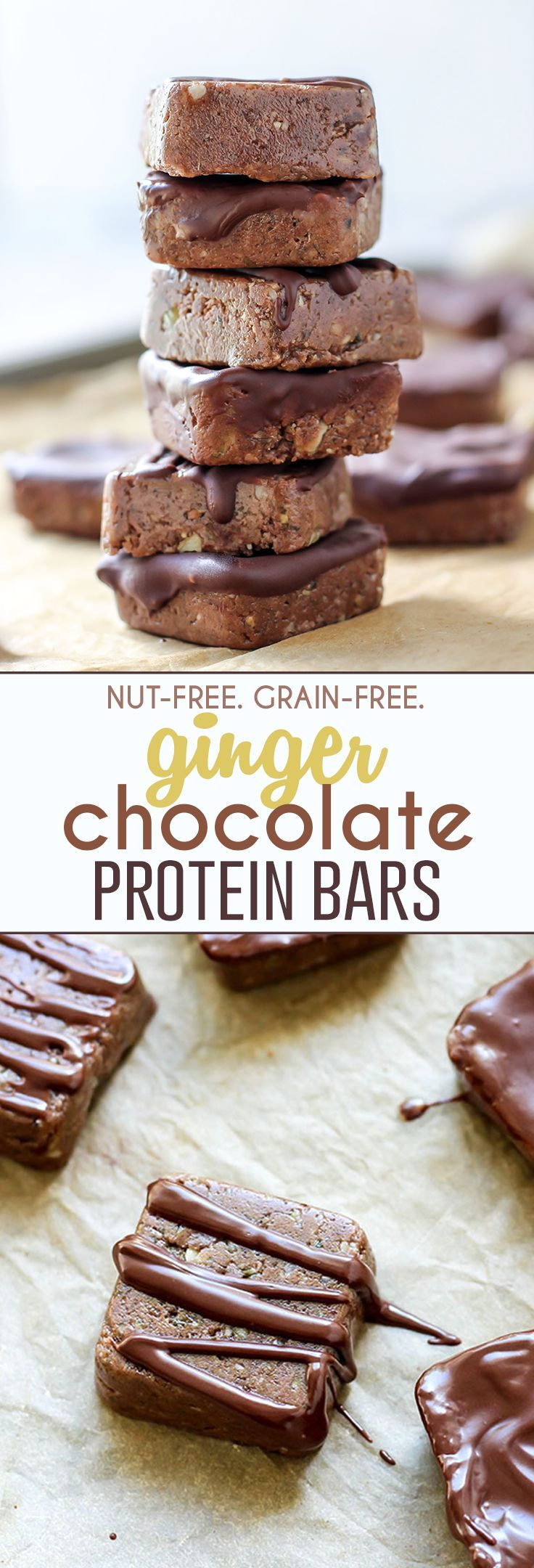 28 Best Food Images On Pinterest Biscuit Cookies Kitchens Chocochips Sully Dress White Ginger Chocolate Protein Bars That Are Nut Free And Grain Each Square