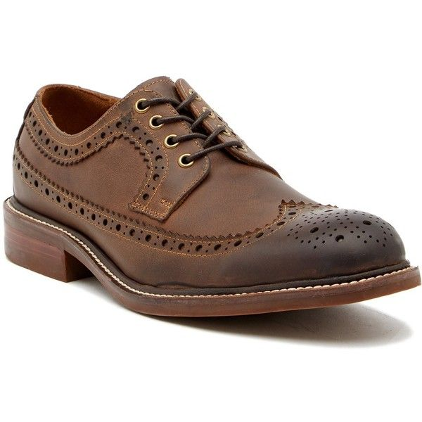Kenneth Cole Reaction Giles Wingtip Oxford ($60) ❤ liked on Polyvore featuring men's fashion, men's shoes, men's oxfords, mens leather shoes, mens wingtip shoes, mens oxford shoes, mens wing tip shoes and mens oxford wingtip shoes