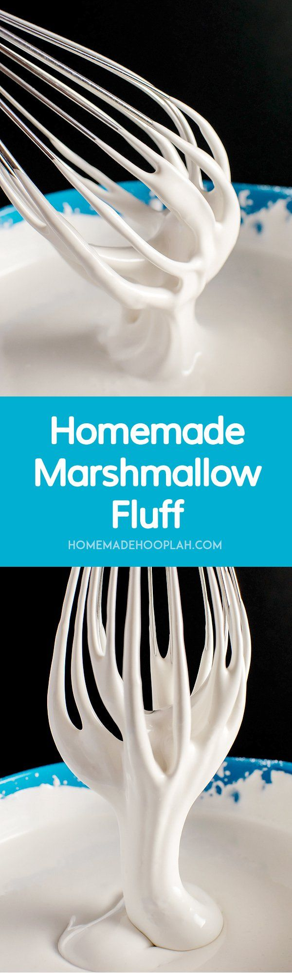 Homemade Marshmallow Fluff! Forget to buy the marshmallow fluff? Yeah, me too. Good thing you can make your own at home - and save a few dollars, too! | HomemadeHooplah.com