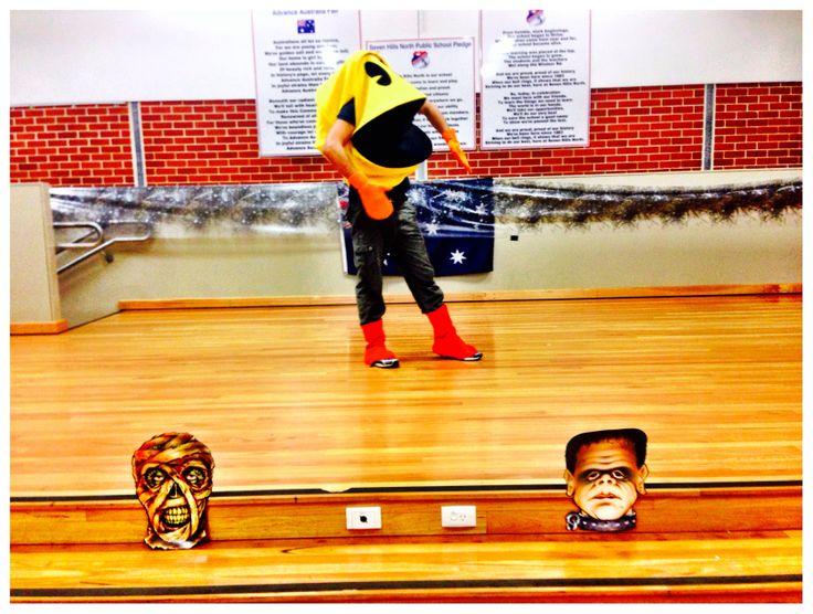 Pacman gate crashing my awesome Halloween party class. Wakawakawakawaka