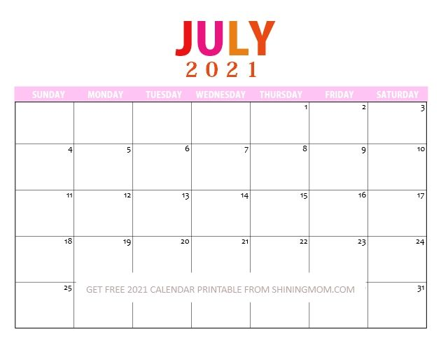 Pin On Calendar 2021 Free Printables