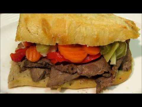Chicago Italian Beef Recipe - How To Make Italian Beef Sandwiches - YouTube