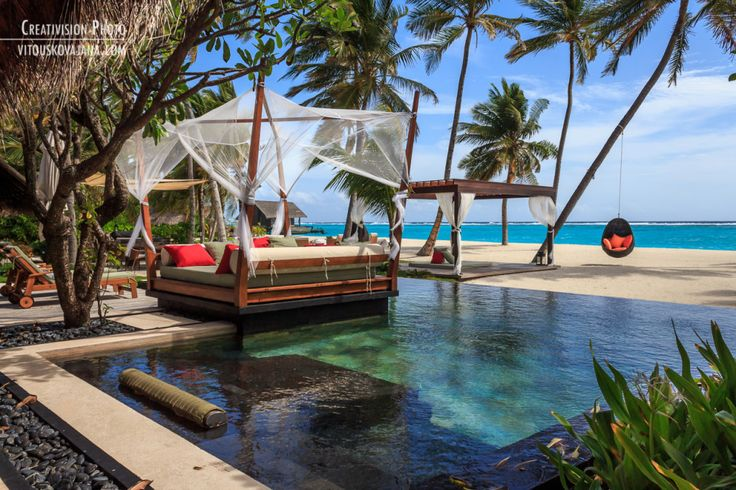 Beach villa area One&Only Reethi Rah