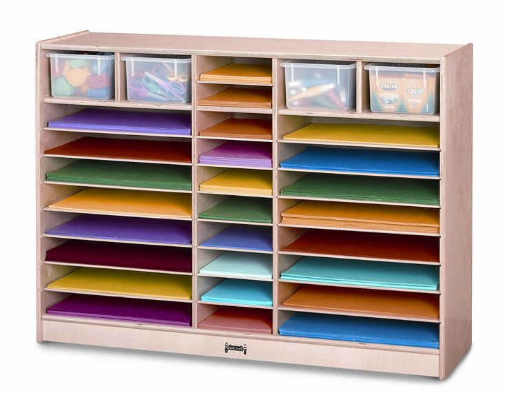 Paper Center 30 Compartment Cubby with Bins in 2019