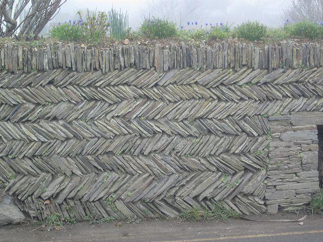 Cornish Herringbone dry stone wall