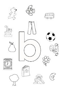 Welk plaatje/woord begint met de letter b?