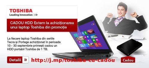 Laptop-uri Toshiba cu HDD extern Cadou